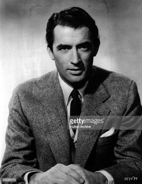 American leading actor Gregory Peck