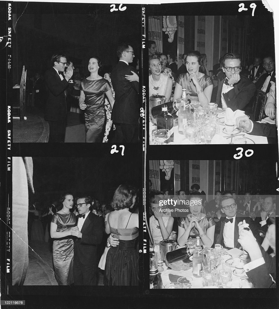 American socialite fashion designer actress writer and artist Gloria Vanderbilt at a party with director producer and screenwriter Sidney Lumet whom...