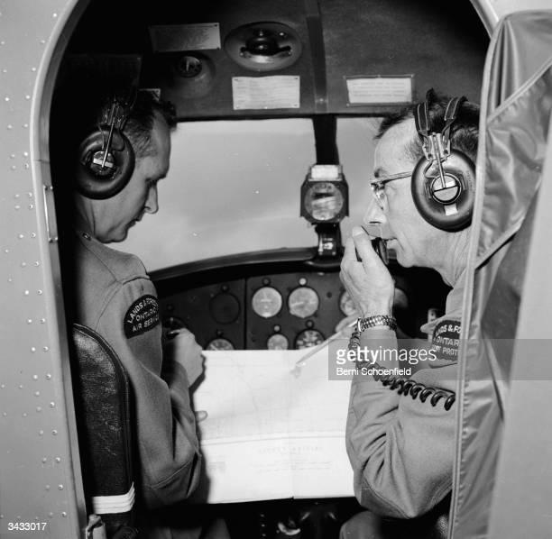 Crew of the Cochrane Fire District at South Porcupine near Timins Ontario aboard a De Havilland Otter plane