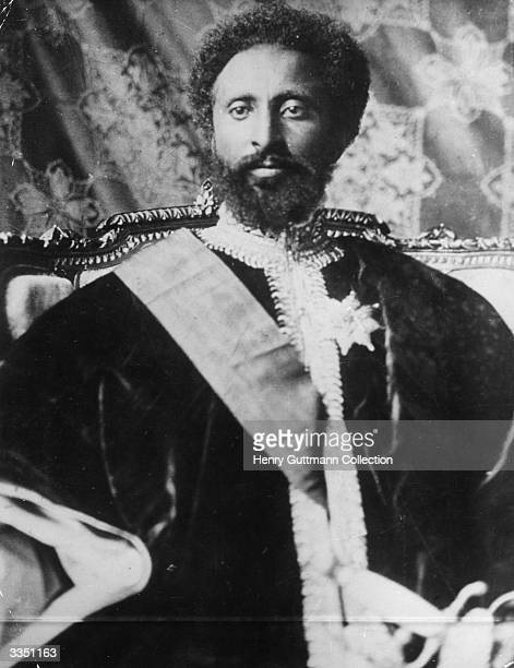 Emperor of Ethiopia Haile Selassie I Also known as Ras Tafari and The Conquering Lion of the Tribe of Judah he Westernised the institutions of his...