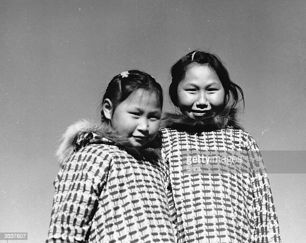 Inuit sisters from Unalakleet aged seven and ten