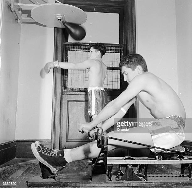 Kids on a boxing programme training at a Police Athletic League centre a recreational facility designed to keep them out of trouble