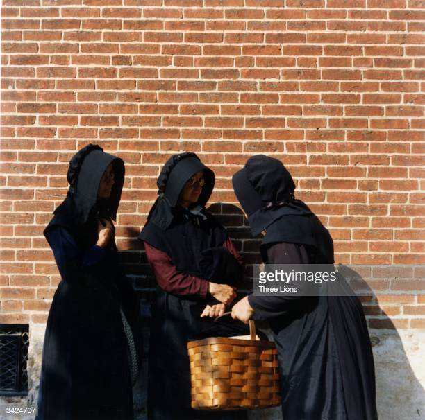 Married women among the Amish wear black bonnets and black or dark coloured fulllength dresses almost girded by black aprons The Amish have...