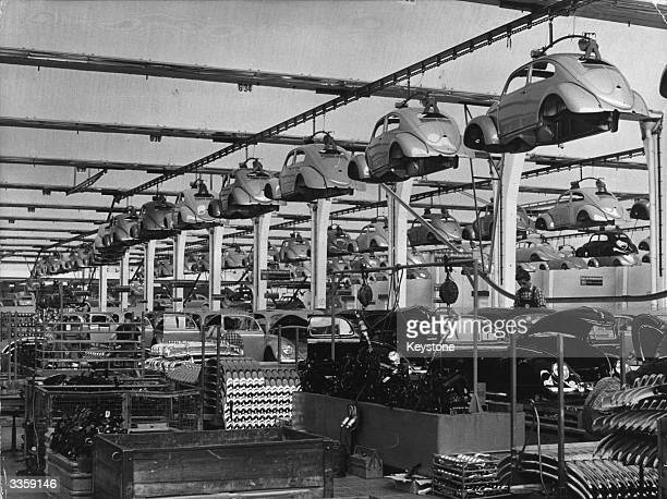Production of the Volkswagen car 'The Beetle'