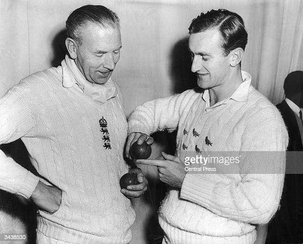 Sussex and England cricket player Ted Dexter in training at Wandsworth Cricket School in London run by bowler Alf Gover