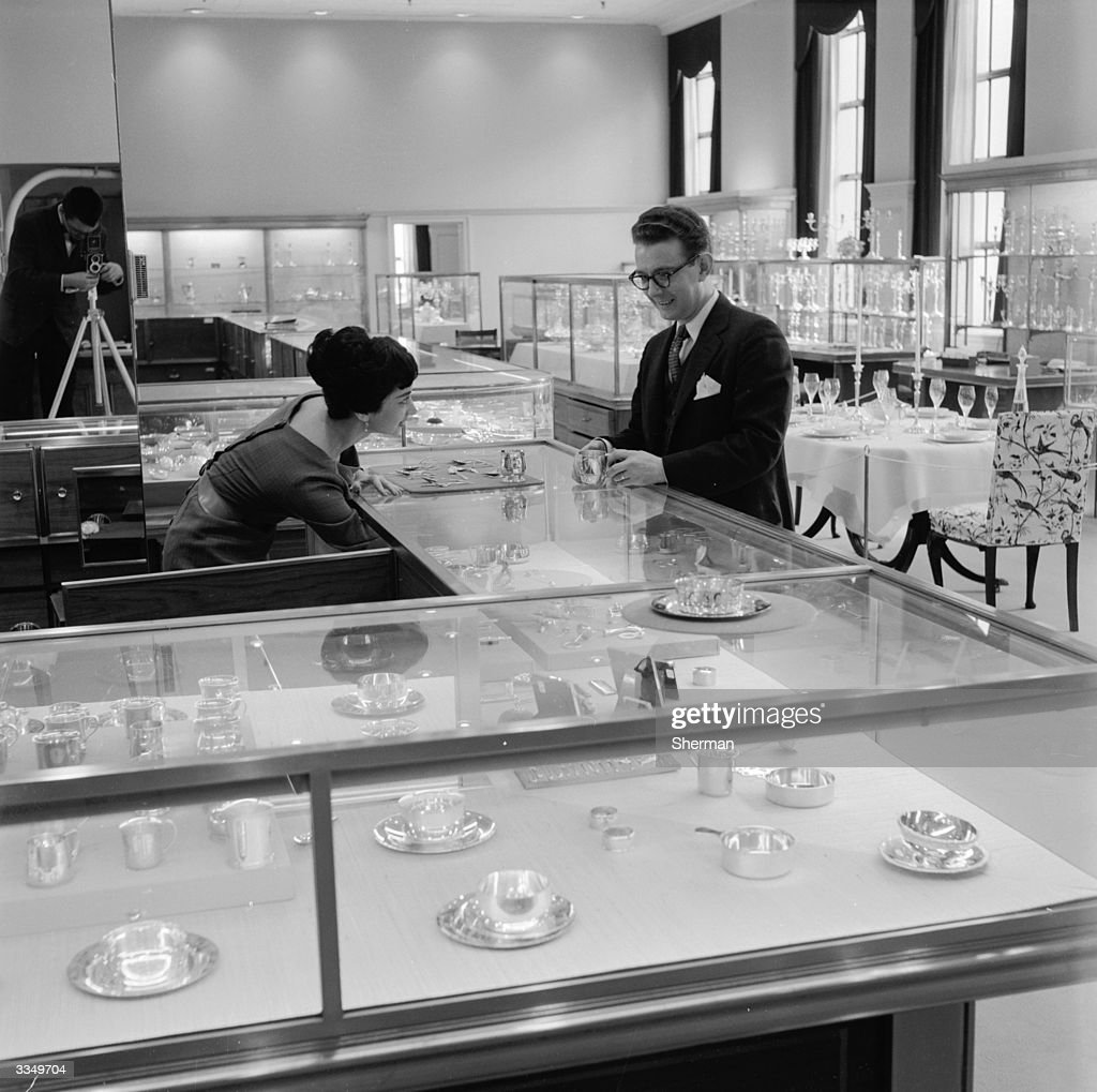 The 'Silver Floor' at Tiffany's, the famous jewellery store in New York.