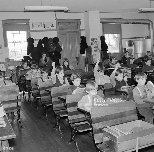 Pupils in an American Amish schoolroom