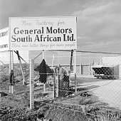 The sign outside the new General Motors factory in Cape Town South Africa