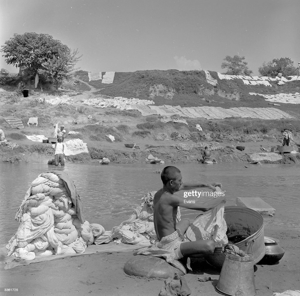 A canalside laundry in Rawalpindi
