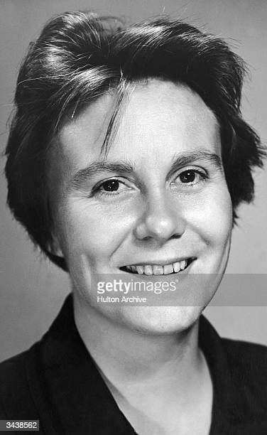 American author Harper Lee smiling