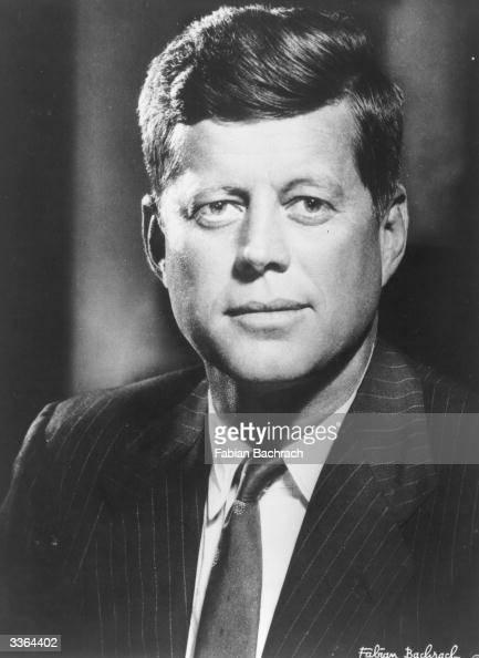 American president John F Kennedy