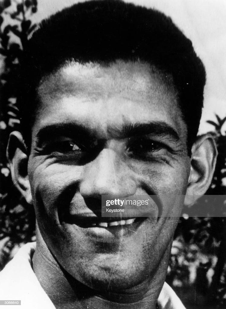 Brazilian footballer Garrincha (1933 - 1983), known as the little bird.