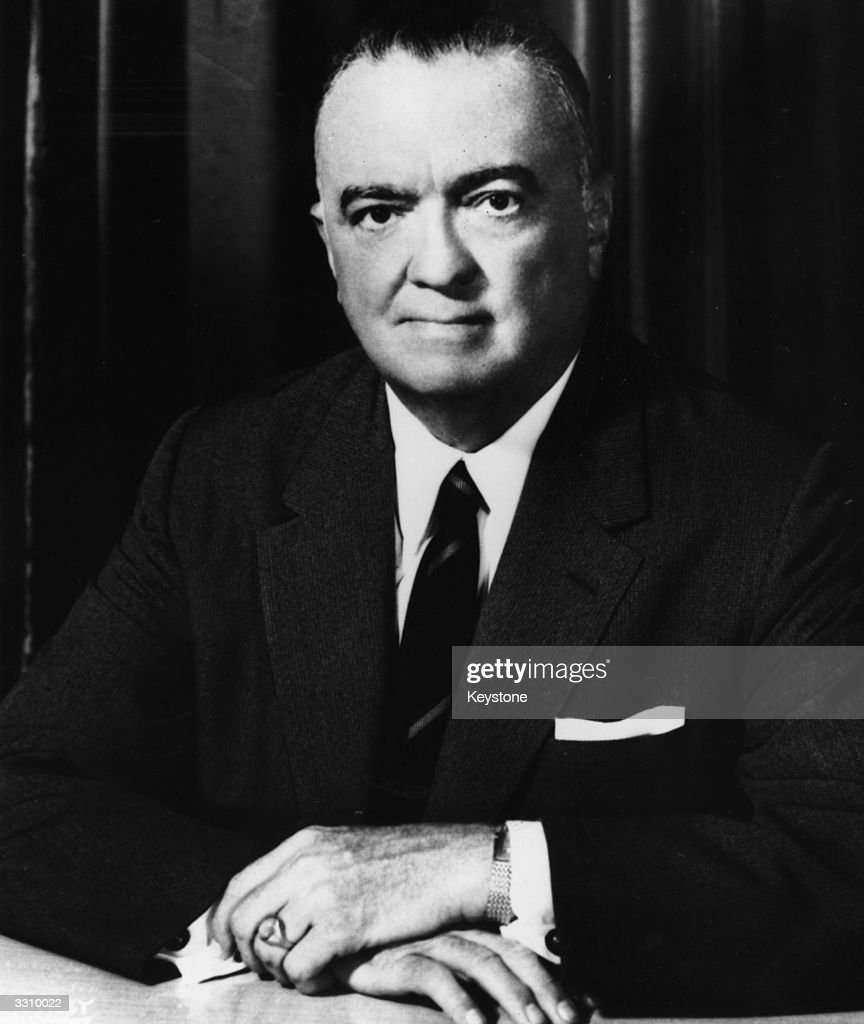 John Edgar Hoover (1895 - 1972) the Director of the FBI.