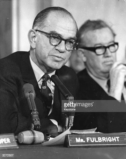 Senator James William Fulbright Chairman of the Foreign Relations Committee during the Cuban Crisis