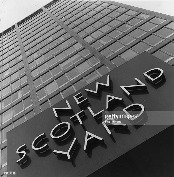 The facade of New Scotland Yard Police HQ in London