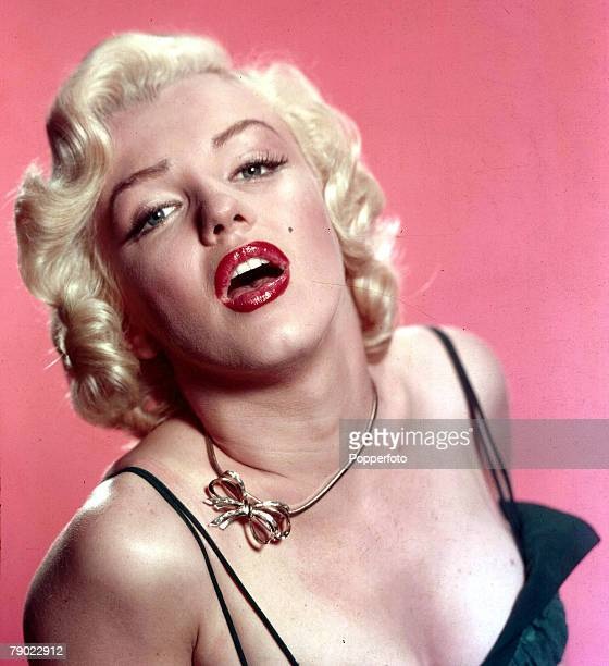 Circa 1960 Vintage colour transparency Cinema A portrait of the American actress Marilyn Monroe