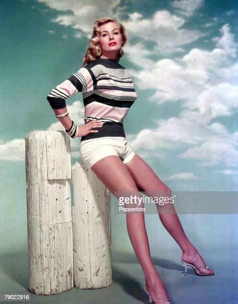 Circa 1960 Vintage colour transparency Cinema A portrait of the actress Anita Ekberg