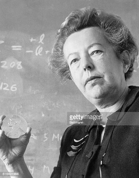 Circa 1960sFile PhotoORIGINAL CAPTION READS Physicist Dr Maria Goeppert Mayer who became the second womam in history to win a Nobel Prize died Sunday...