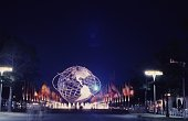The 'unisphere' centerpiece of the 196465 New York World's Fair commemorating the city's 300th anniversary The three rings around it represent the...