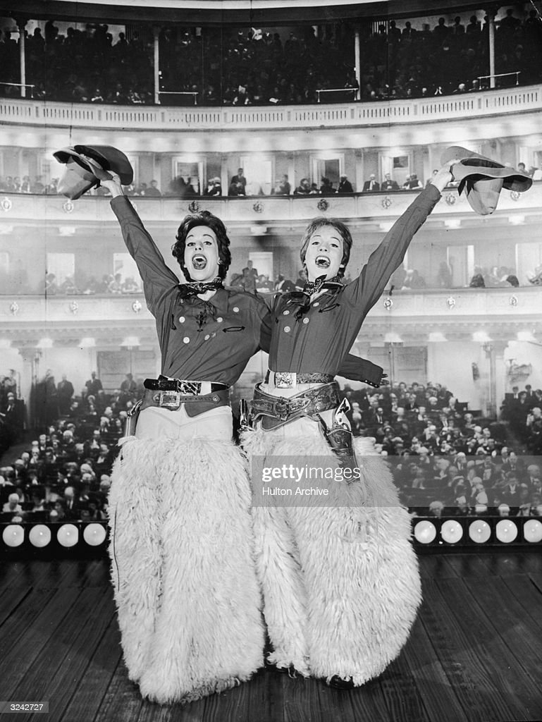 American actor and comedian Carol Burnett (left) and British singer ...