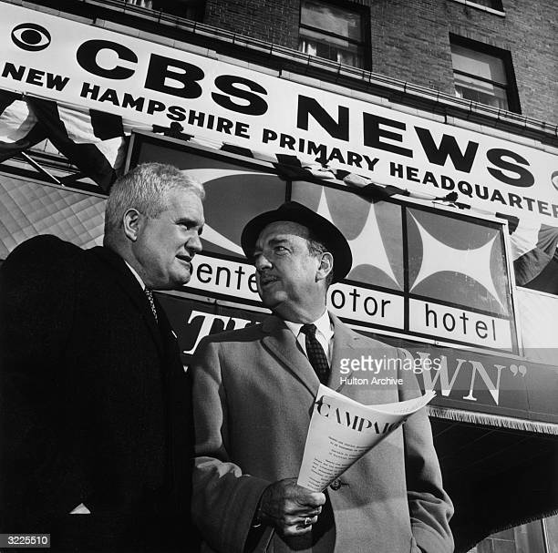 Bill Leonard executive producer of the CBS News Election Unit and CBS News correspondent Walter Cronkite who was the anchorman for the network's...