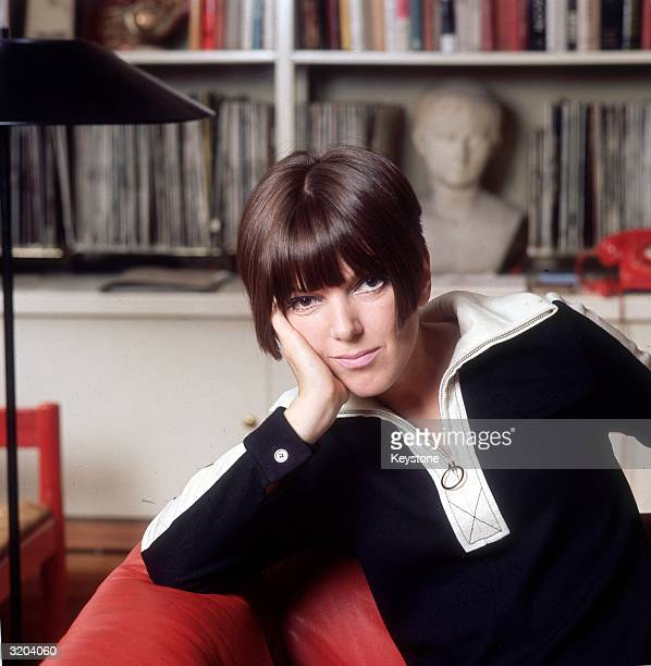 Fashion guru and dress designer Mary Quant at her home