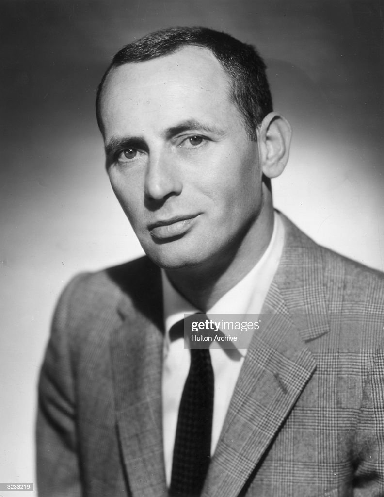 Headshot portrait of American actor, comedian, and Rat Pack member Joey Bishop.