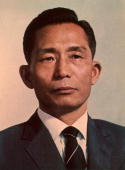 Korean army officer political leader and assassinated president Chung Hee Park wearing a jacket and tie
