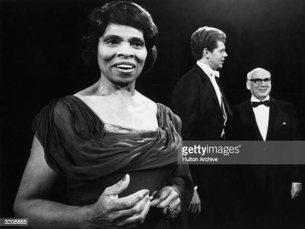Musical artists singer Marian Anderson and pianist Van Cliburn appear on 'S Hurok Presents' a 90minute musical tribute to impresario Sol Hurok