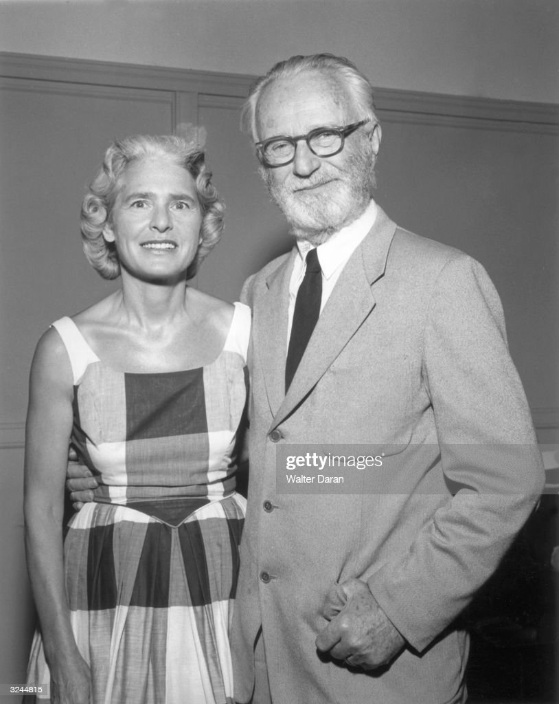 Portrait of American photographer Margaret Bourke-White (1904 - 1969) and Luxembourg-born photographer, artist, and curator Edward Steichen (1879 - 1973). Bourke-White was the first female photojournalist of World War II.