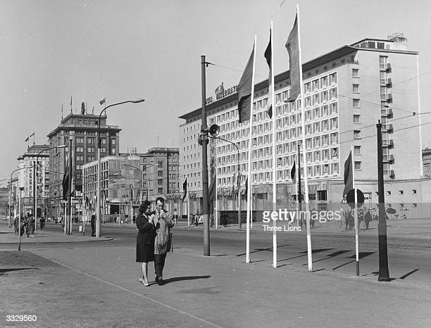 The International Hotel at Magdeburg East Germany built to attract visitors from outside the Communist bloc It is also a centre of the city's social...