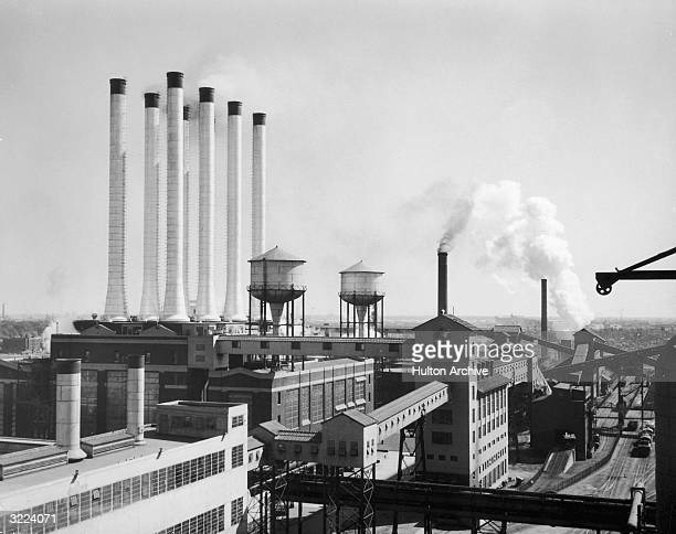 View of the Ford automobile plant in Dearborn Michigan