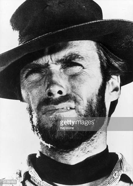 American actor and director Clint Eastwood star of several spaghetti westerns which were characterized by their violence and featured the direction...