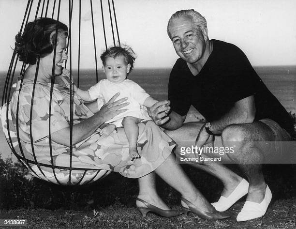 Australian prime minister Harold Holt with his wife Zara and their granddaughter Sophie