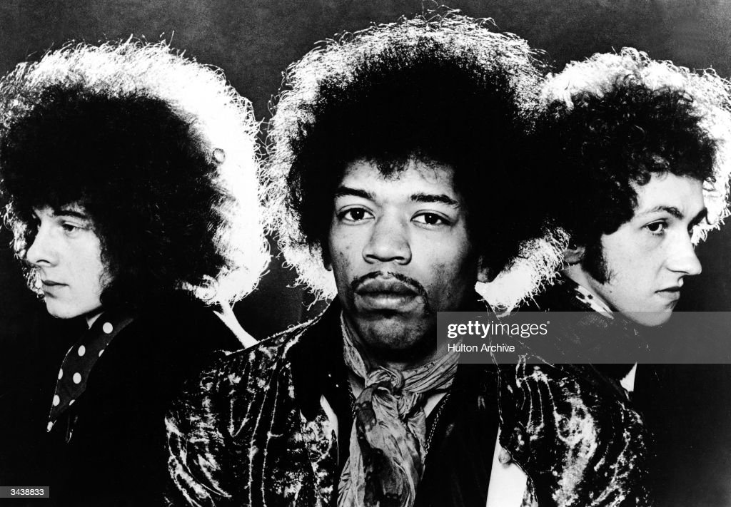 Portrait of the rock group The Jimi Hendrix Experience left to right Noel Redding Jimi Hendrix and Mitch Mitchell
