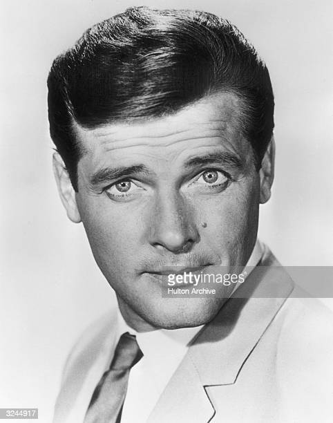 Promotional headshot of British actor Roger Moore for the television spy series 'The Saint' in which he starred from 19671969