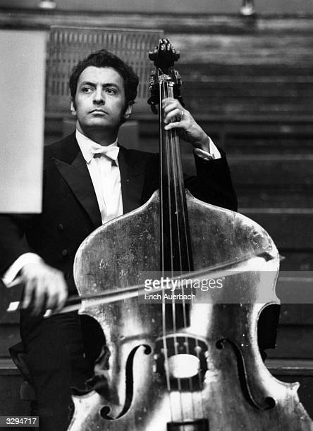 Conductor Zubin Mehta with double bass