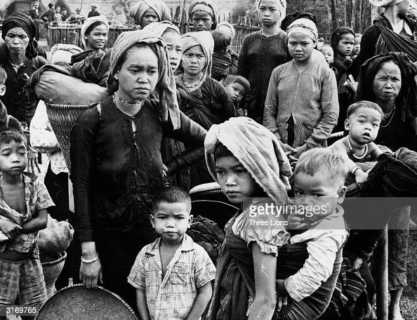 A group of Vietnamese refugees