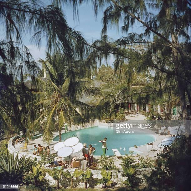 Circa 1970 Eleuthera Pool Party Bahamas