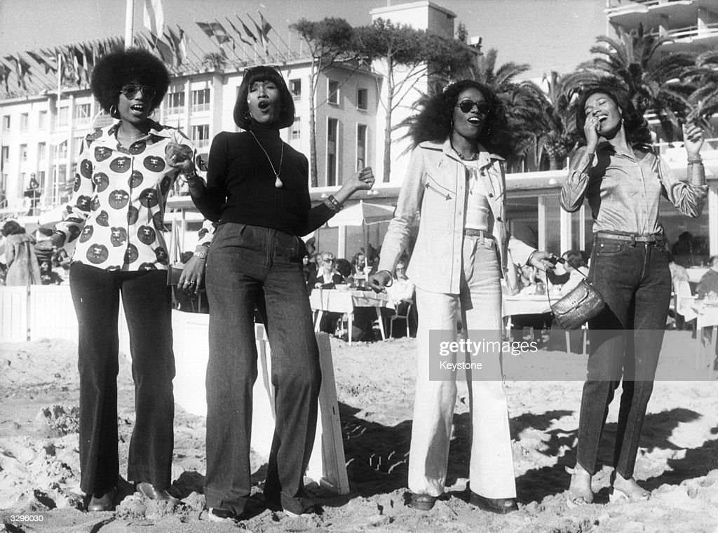 Funky soulpop vocal group the Pointer Sisters in Cannes for MIDEM the international recording trade festival