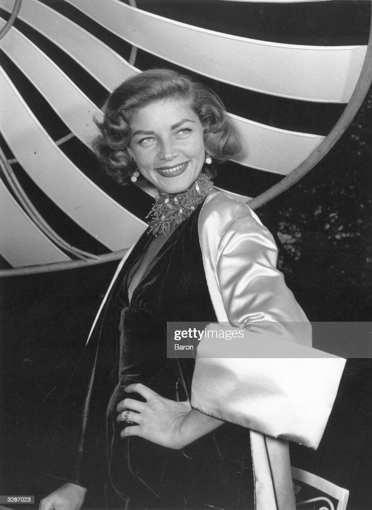 Lauren Bacall, formerly Betty Joan Perske, the American film star who married Humphrey Bogart, her co-star in 'The Big Sleep' (1946).