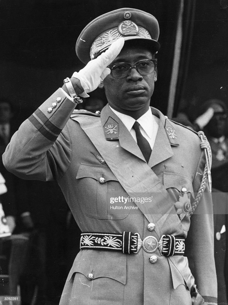 Mobutu Sese Seko (Joseph Desire Mobutu), Zairean soldier and politician. He joined the Congolese National Movement party and later became the president of the Congo Democratic Republic, now Zaire.