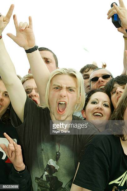 UNSPECIFIED circa 1970 Photo of FANS and ROCK FANS and HEAVY METAL and DONNINGTON Download Festival