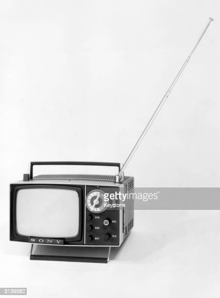 The latest model of the Sony Micro Television which can be operated by batteries
