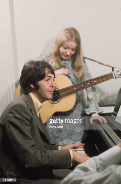 Welsh folk singer Mary Hopkin who recorded for the Beatles' record company Apple with Paul McCartney
