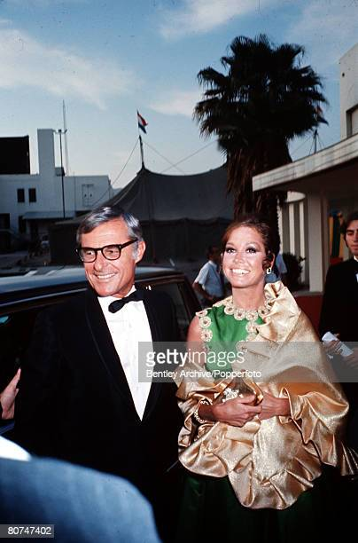 USA Circa 1970's American actress Mary Tyler Moore is pictured with her husband producer Grant Tinker