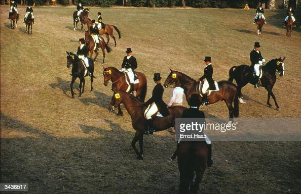 Riders at an equestrian meeting in Aachen West Germany In Germany book