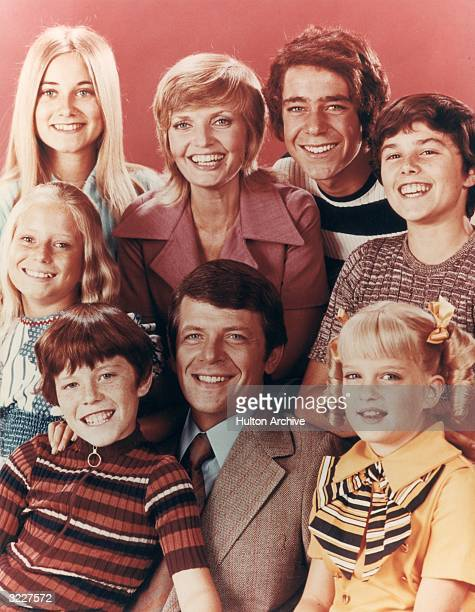 The Brady family from the television series 'The Brady Bunch' Top row Maureen McCormick Florence Henderson Barry Williams Christopher Knight bottom...