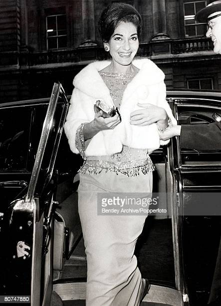 Circa 1975 A picture of the Opera singer Maria Callas who born in the USA of Greek parents