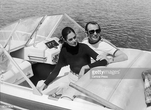 Dr Christiaan Barnard South African pioneer of the heart transplant with his wife Barbara Zoellner holidaying in Spain